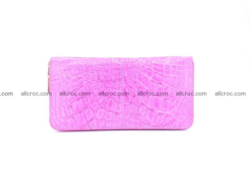 Crocodile skin wallet with zip 977