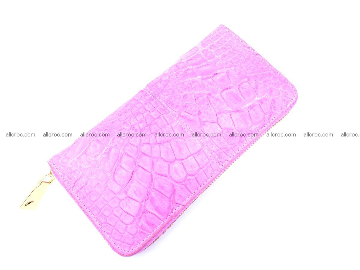 Crocodile skin wallet with zip 977 Foto 6