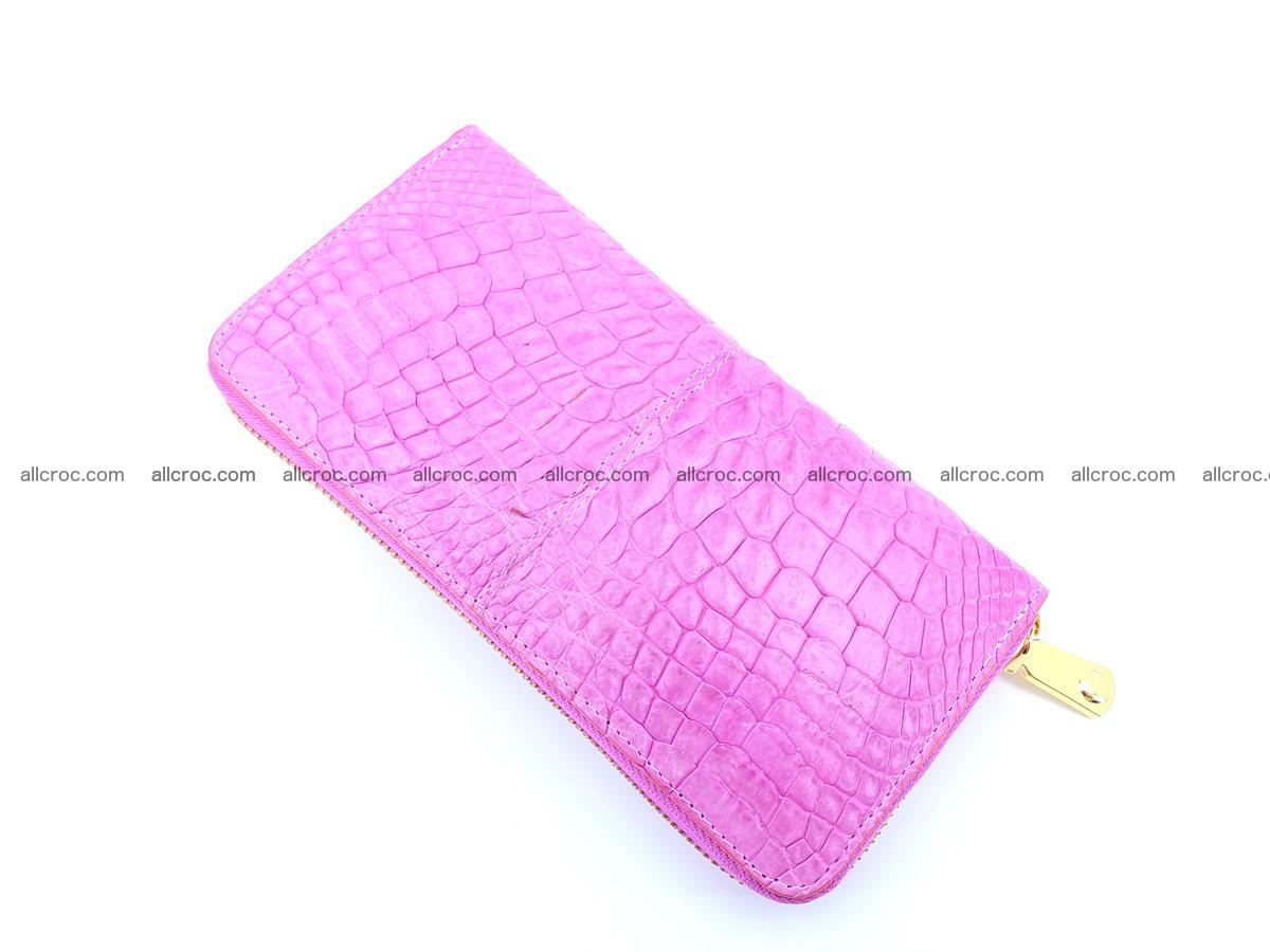 Crocodile skin wallet with zip 977 Foto 7