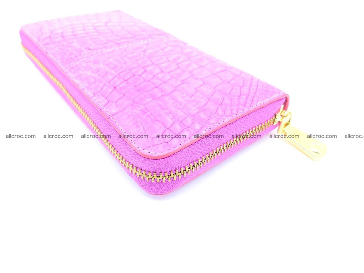 Crocodile skin wallet with zip 977 Foto 8