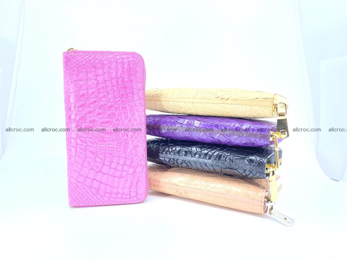 Crocodile skin wallet with zip 977 Foto 3