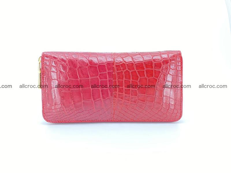 Crocodile skin wallet with zip 979