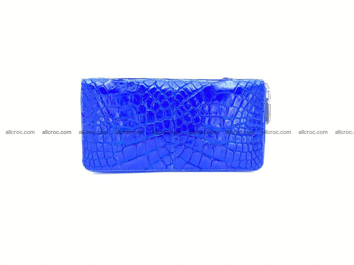Crocodile skin wallet with zip 1011 Foto 0
