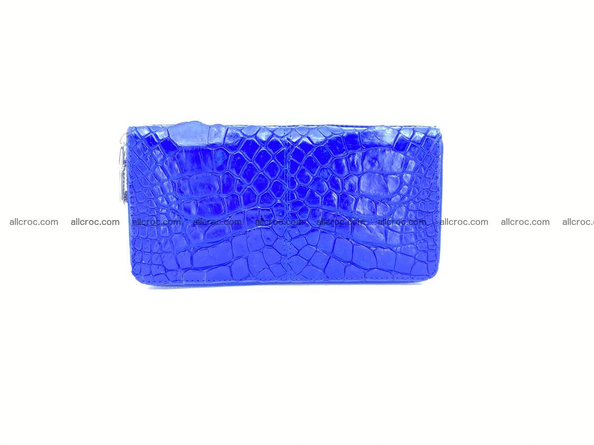 Crocodile skin wallet with zip 1011 Foto 1