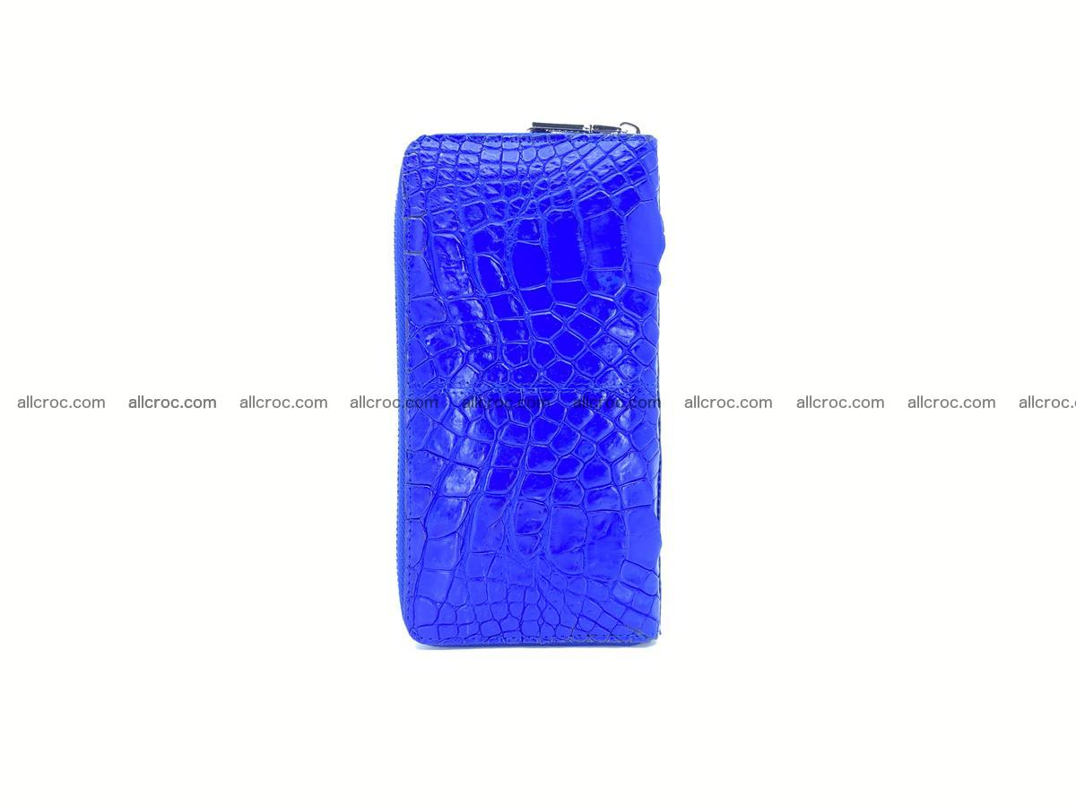 Crocodile skin wallet with zip 1011 Foto 3