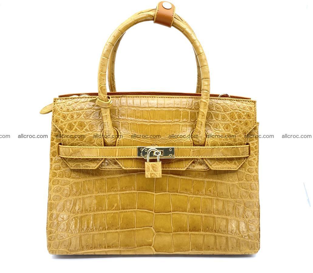 Crocodile skin women's handbag 1448 Foto 0