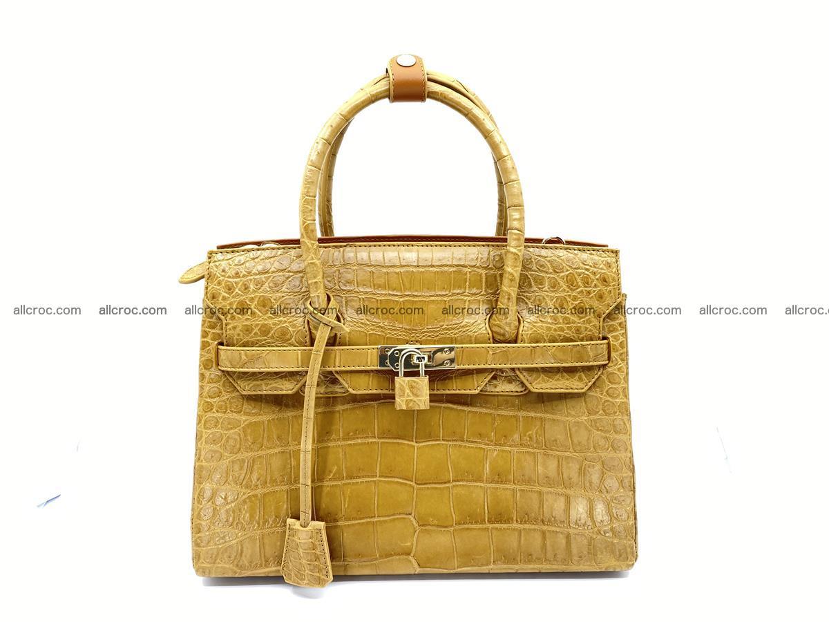 Crocodile skin women's handbag 1448 Foto 6