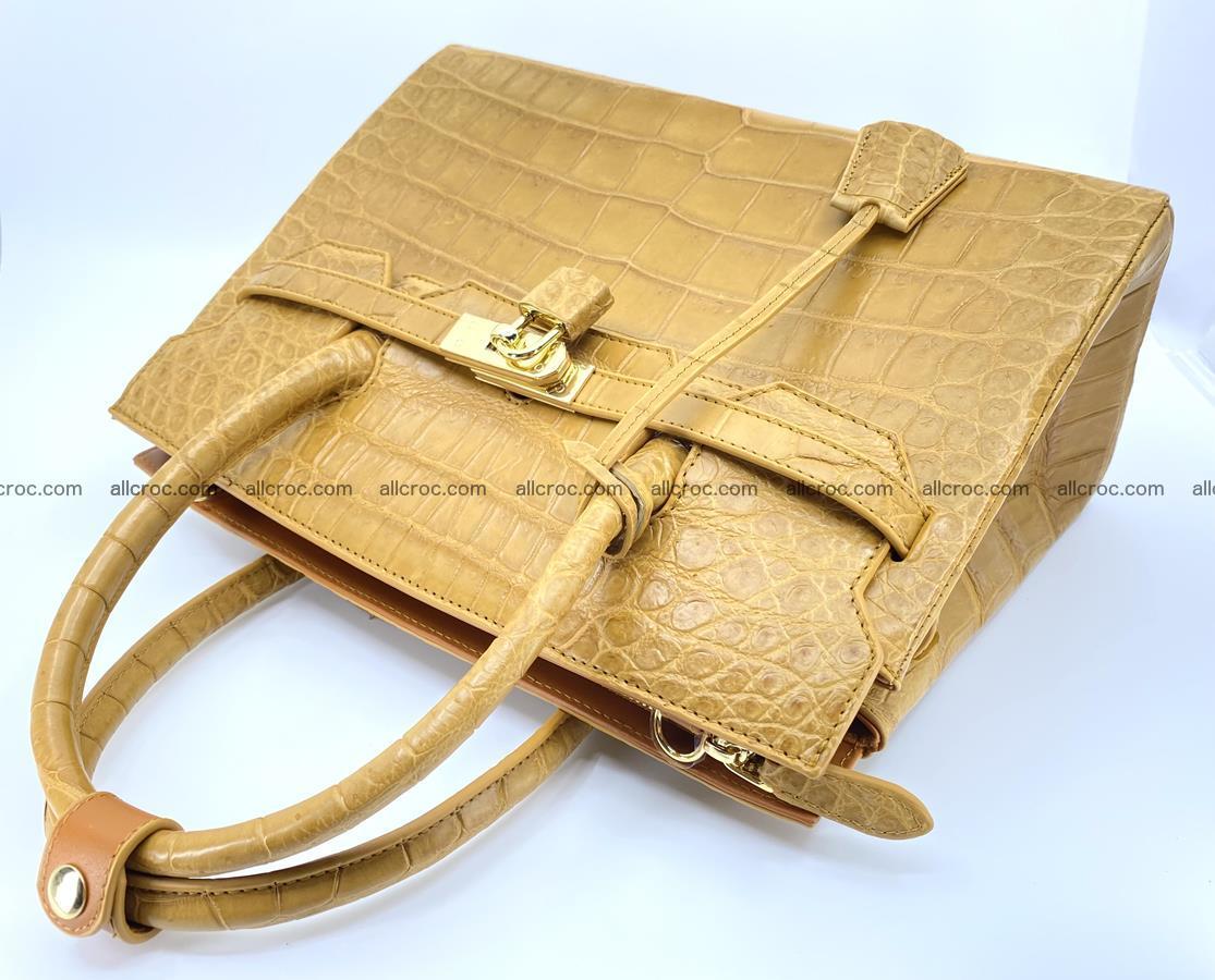 Crocodile skin women's handbag 1448 Foto 13