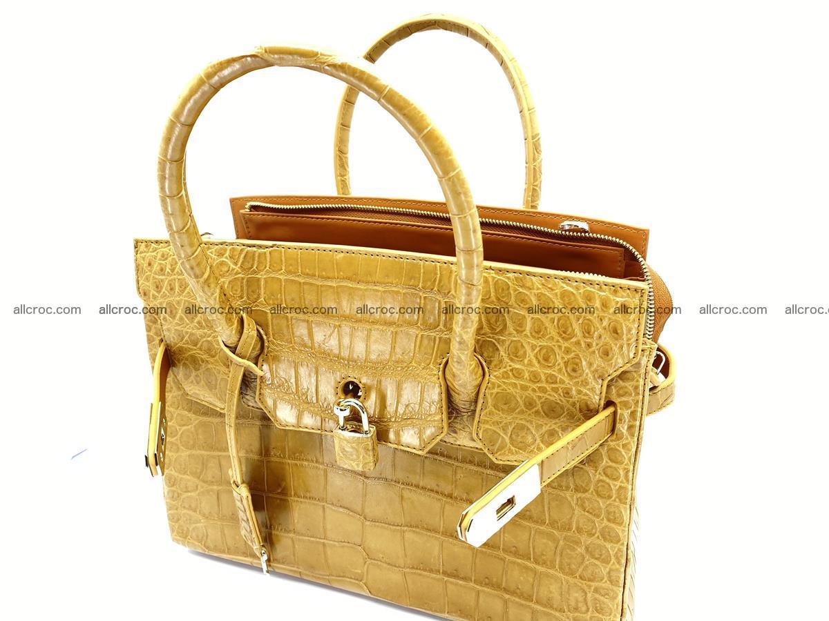 Crocodile skin women's handbag 1448 Foto 17