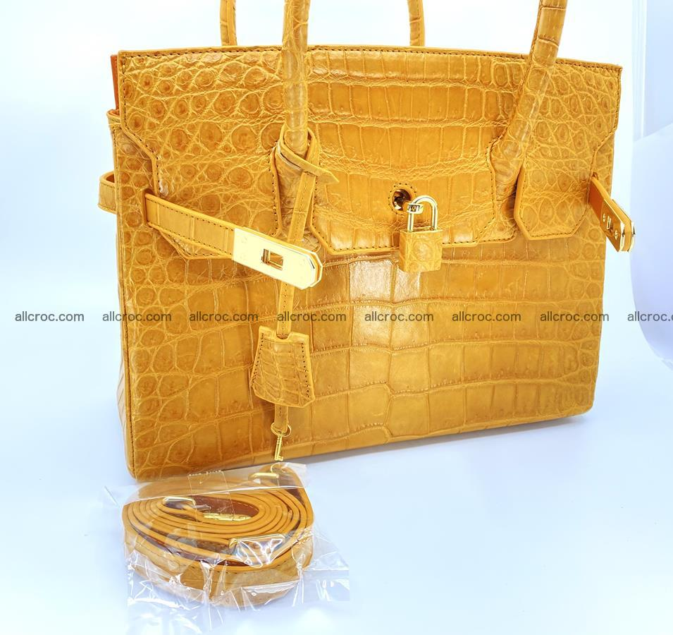 Crocodile skin women's handbag 1448 Foto 19