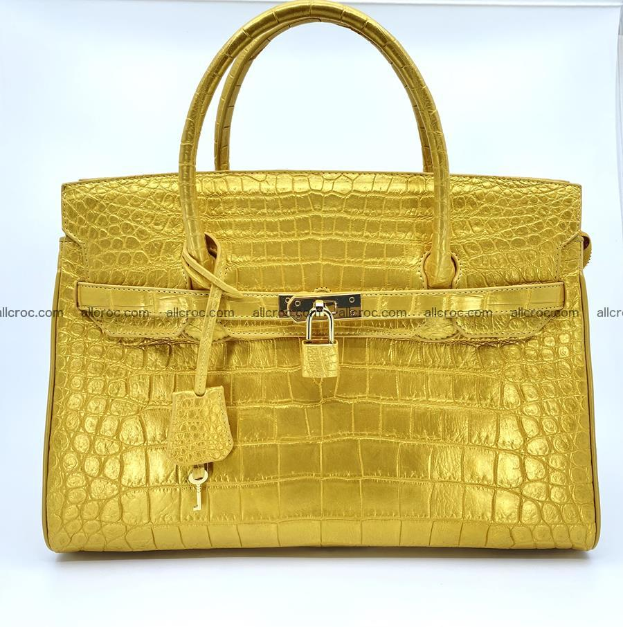 Crocodile skin women's handbag 1447 Foto 0