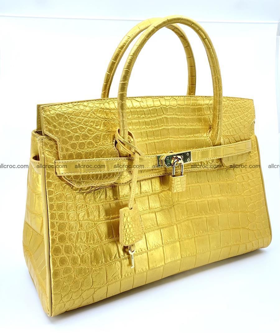 Crocodile skin women's handbag 1447 Foto 1