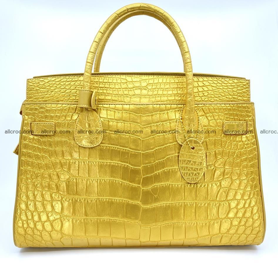 Crocodile skin women's handbag 1447 Foto 3