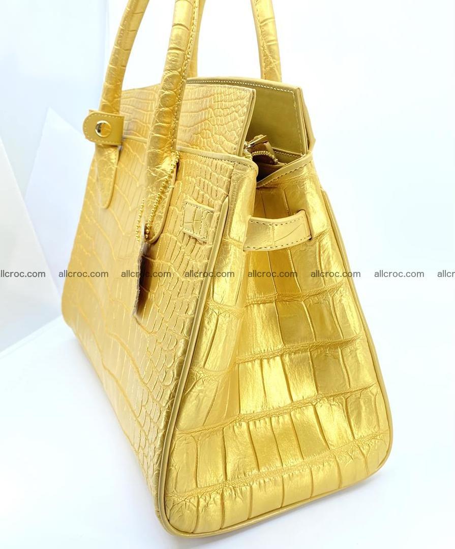 Crocodile skin women's handbag 1447 Foto 5