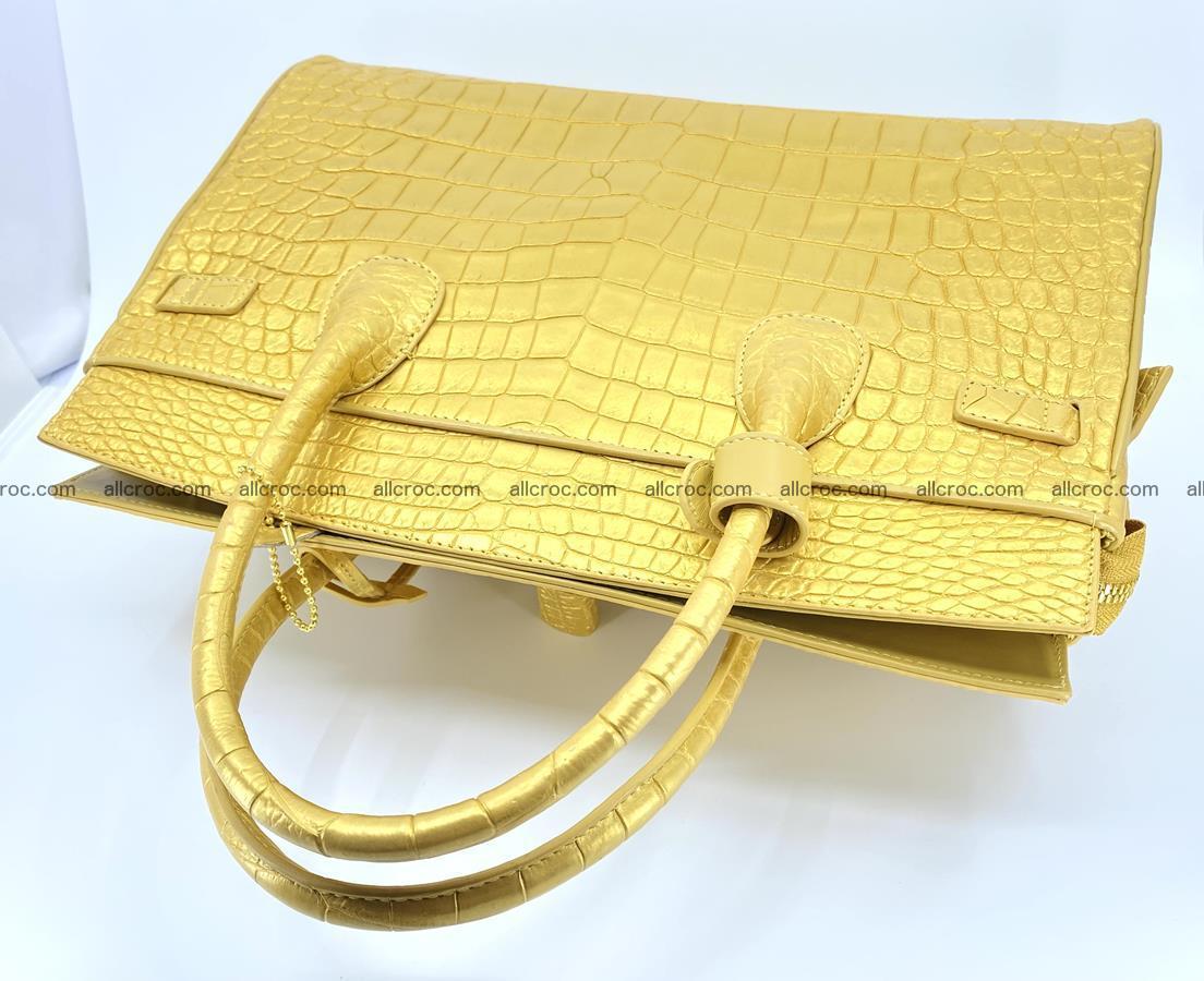 Crocodile skin women's handbag 1447 Foto 7
