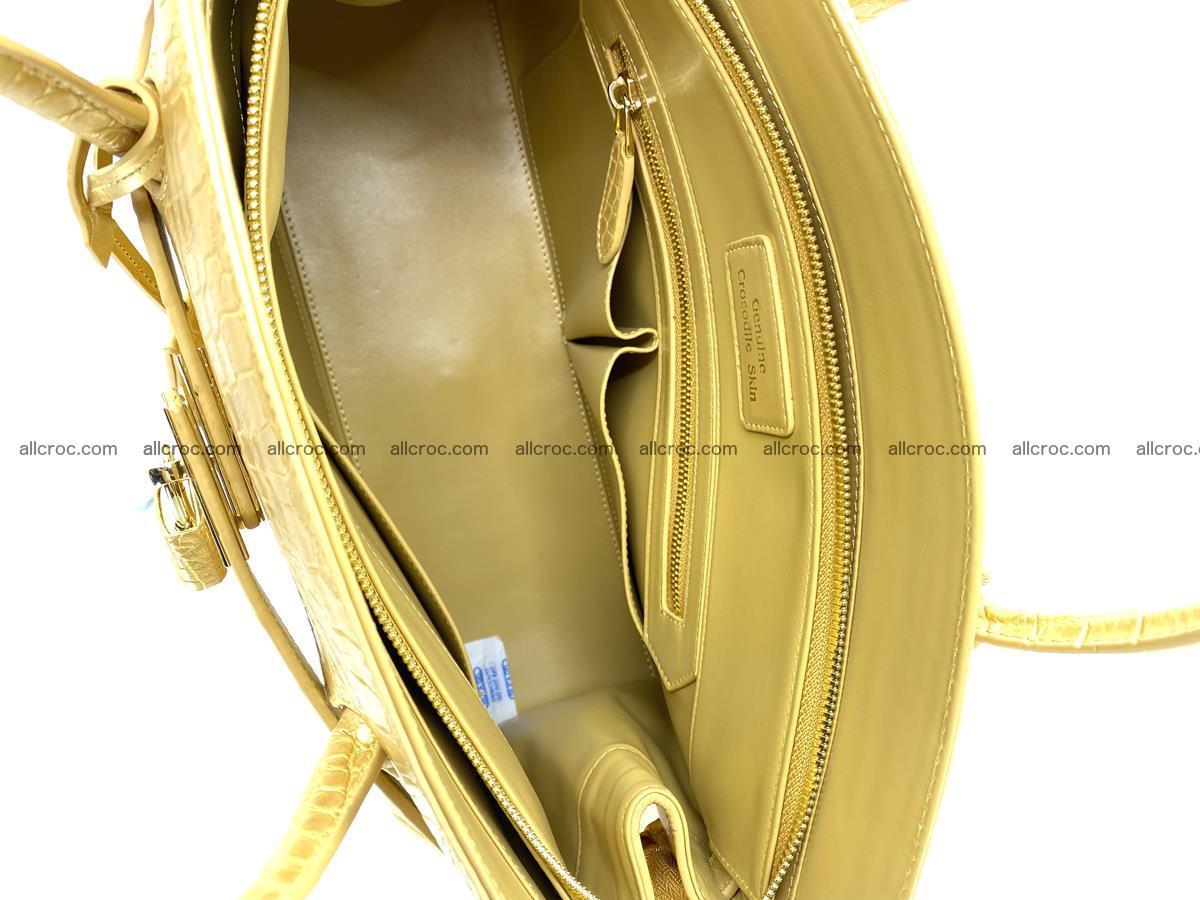 Crocodile skin women's handbag 1447 Foto 12