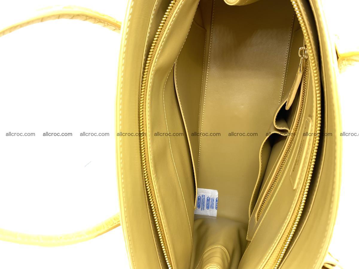 Crocodile skin women's handbag 1447 Foto 13