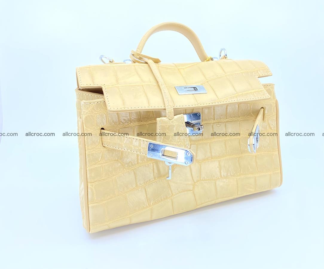 Crocodile skin women's handbag 1451 Foto 11