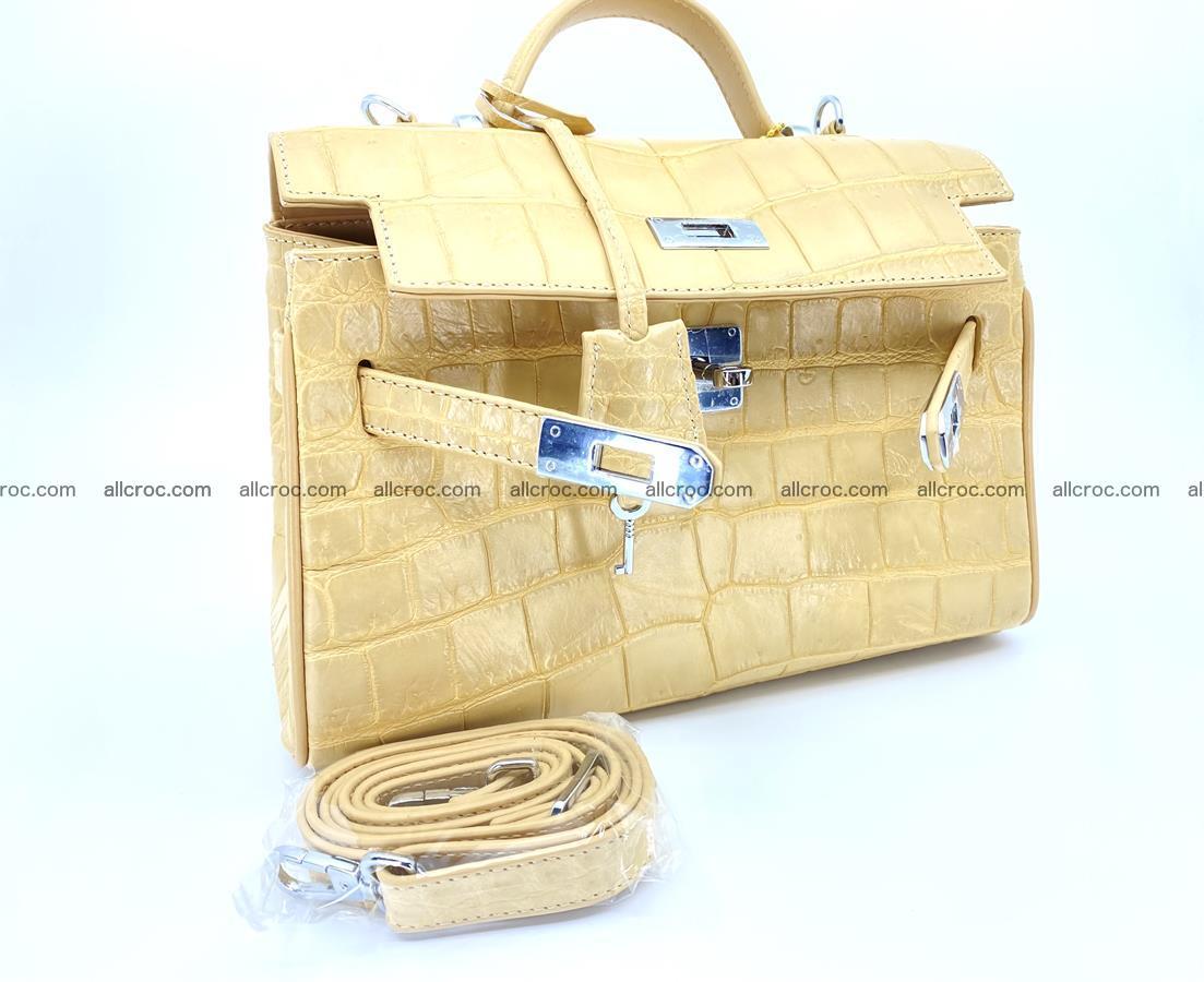 Crocodile skin women's handbag 1451 Foto 12