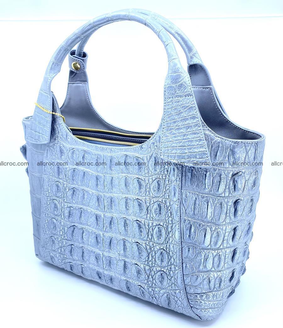 Crocodile skin women's handbag 1446 Foto 5