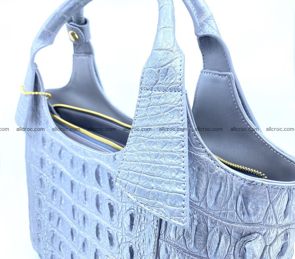 Crocodile skin women's handbag 1446 Foto 9