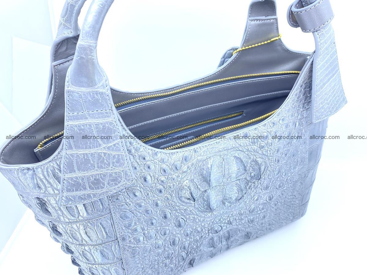 Crocodile skin women's handbag 1446 Foto 12