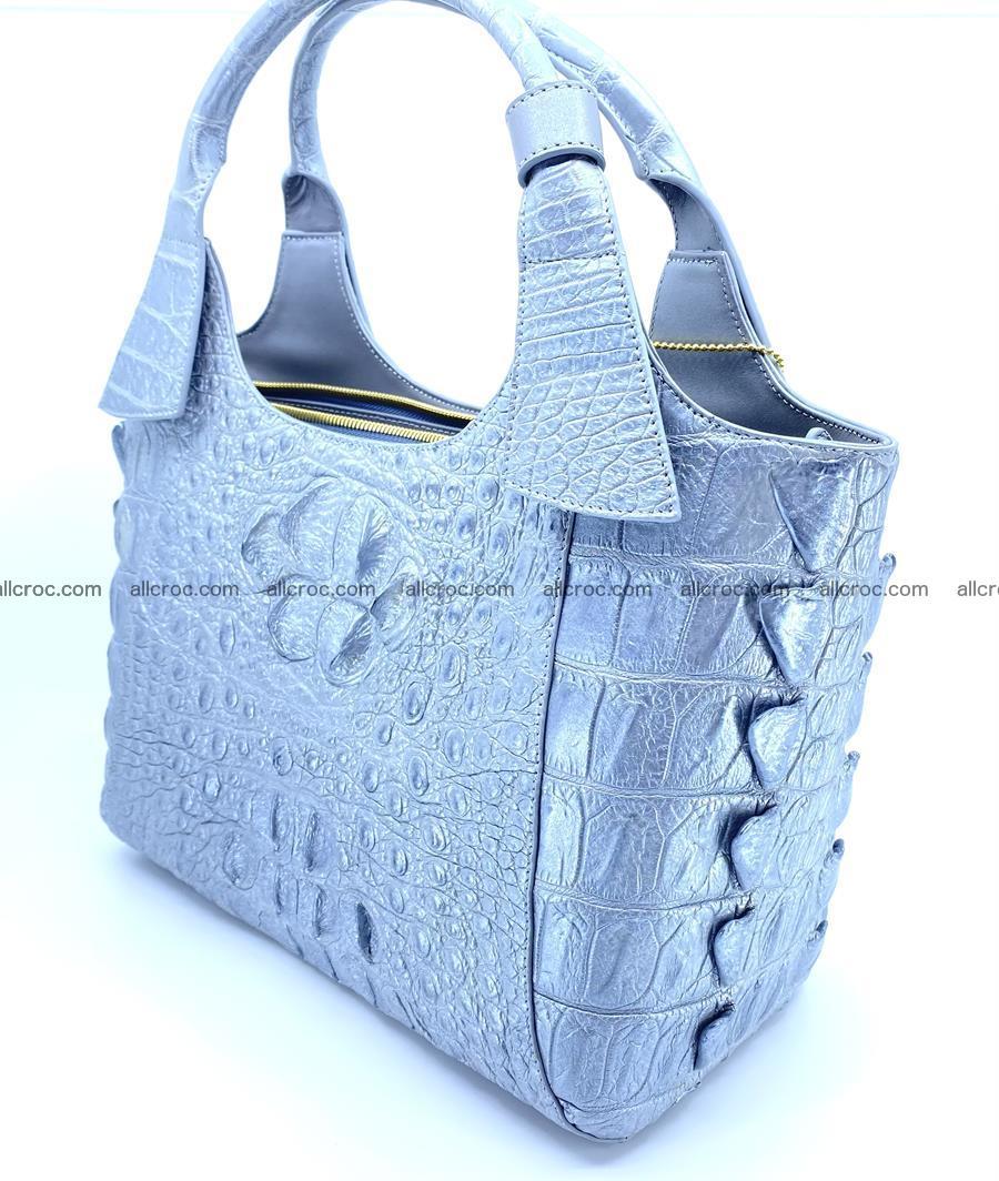 Crocodile skin women's handbag 1446 Foto 3