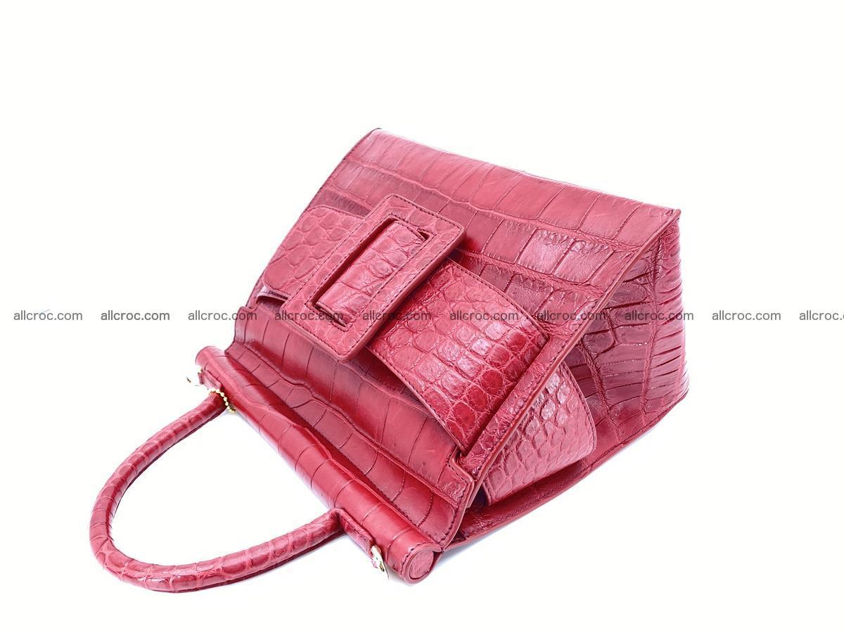 Crocodile skin women's handbag 1450 Foto 7
