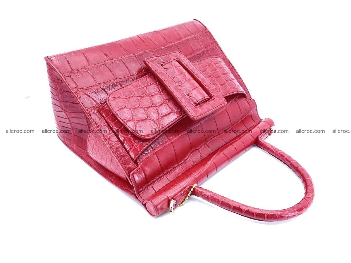 Crocodile skin women's handbag 1450 Foto 9