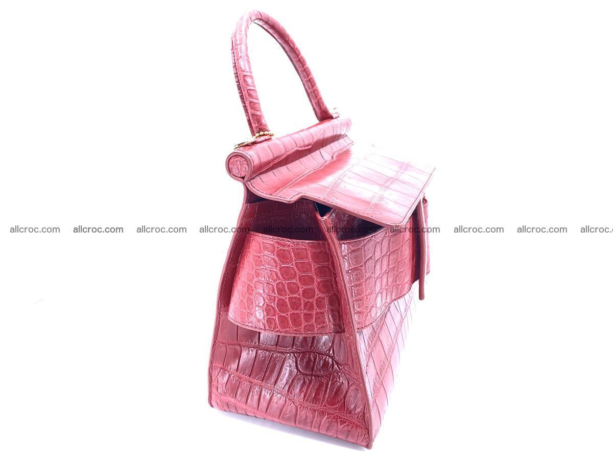 Crocodile skin women's handbag 1450 Foto 15