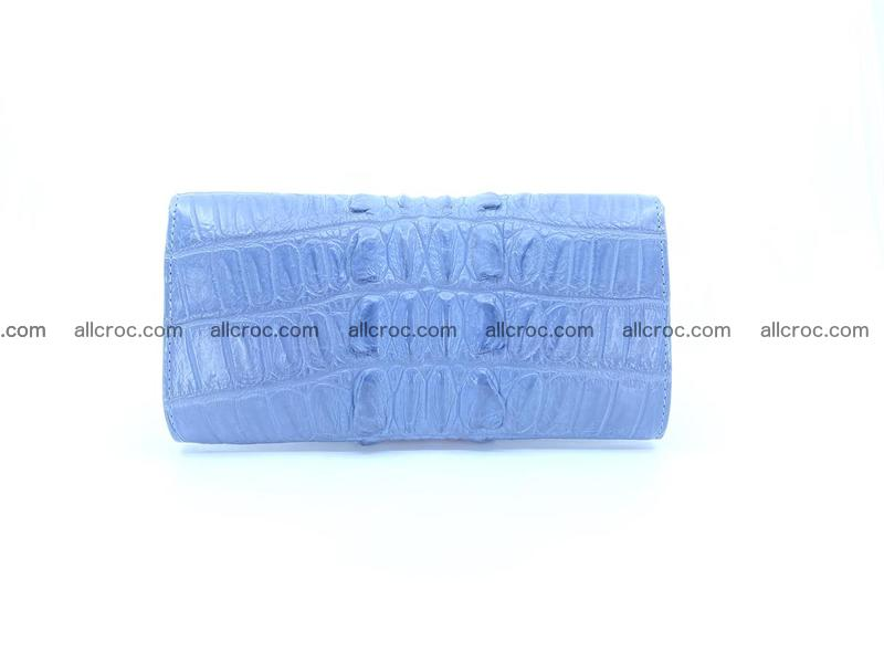 Crocodile skin long wallet for lady 1015