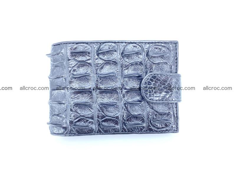 Crocodile skin wallet with pocket for coins and half belt 952