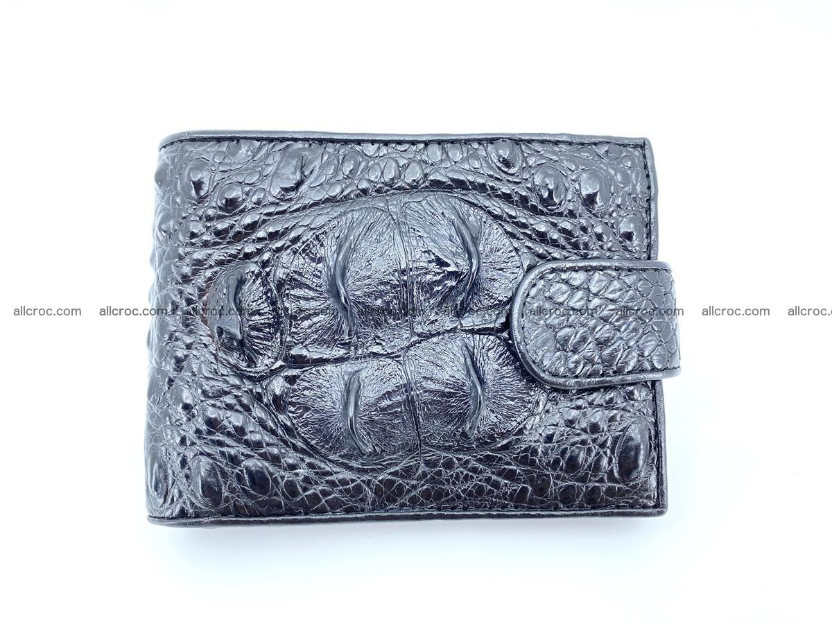 Crocodile skin wallet with pocket for coins and half belt 949 Foto 0