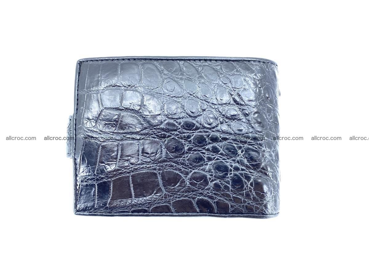 Crocodile skin wallet with pocket for coins and half belt 949 Foto 1