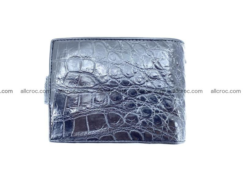 Crocodile skin wallet with pocket for coins and half belt 949