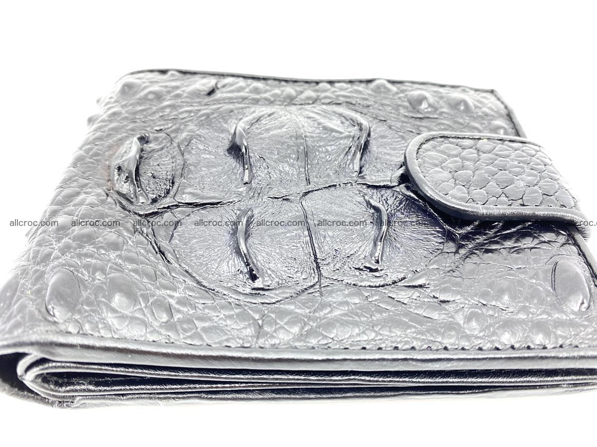 Crocodile skin wallet with pocket for coins and half belt 949 Foto 4