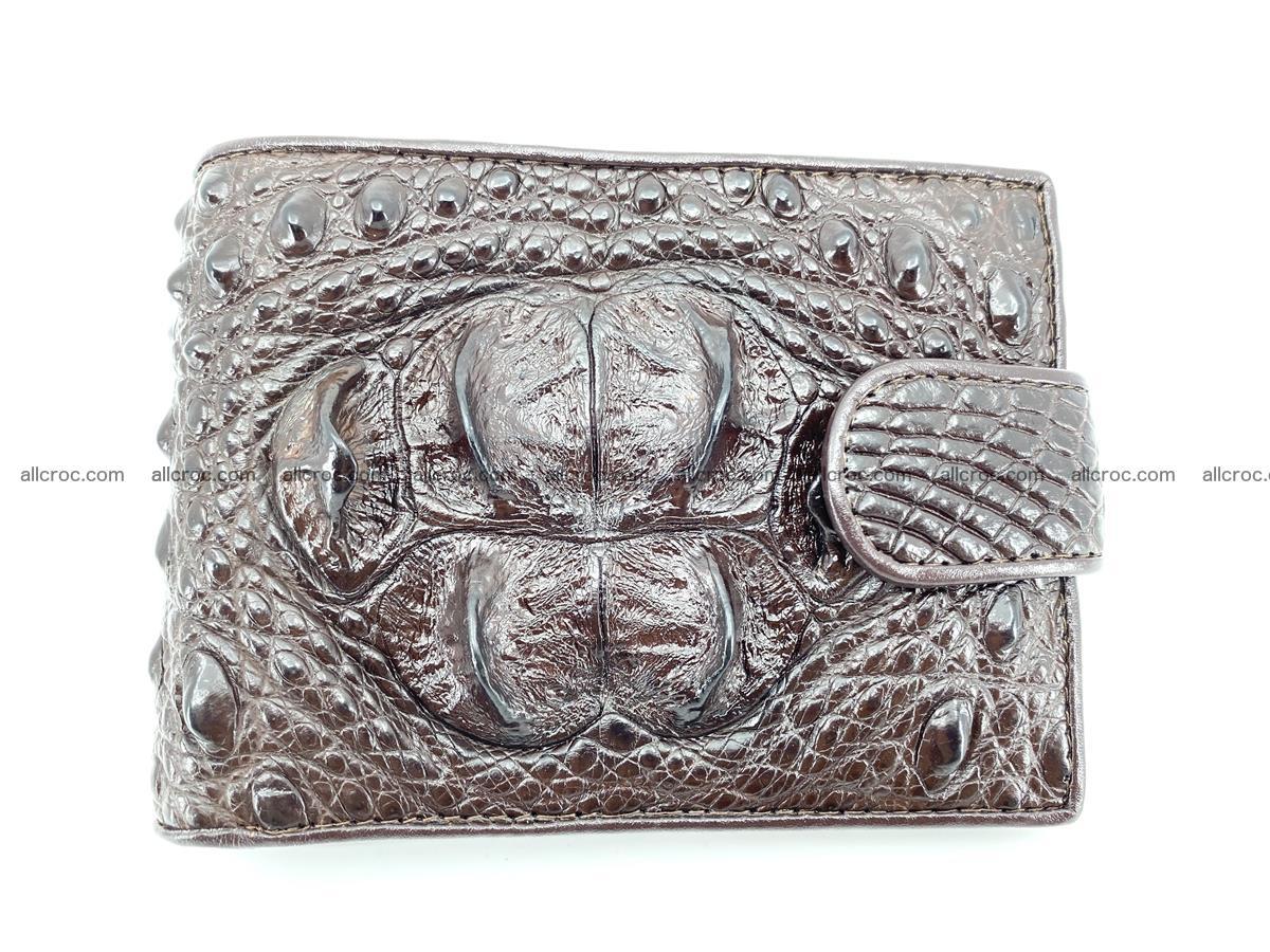 Crocodile skin wallet with pocket for coins and half belt 950 Foto 0