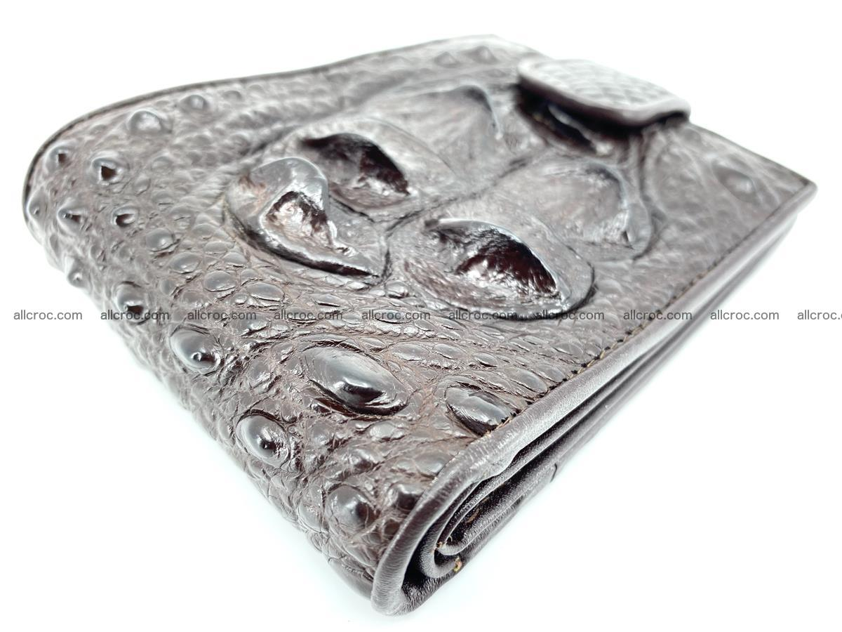 Crocodile skin wallet with pocket for coins and half belt 950 Foto 4
