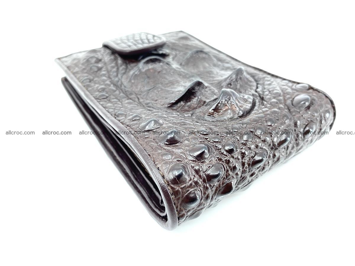 Crocodile skin wallet with pocket for coins and half belt 950 Foto 5