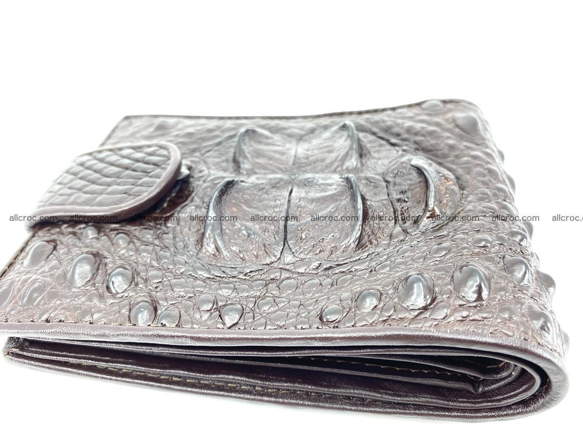 Crocodile skin wallet with pocket for coins and half belt 950 Foto 6