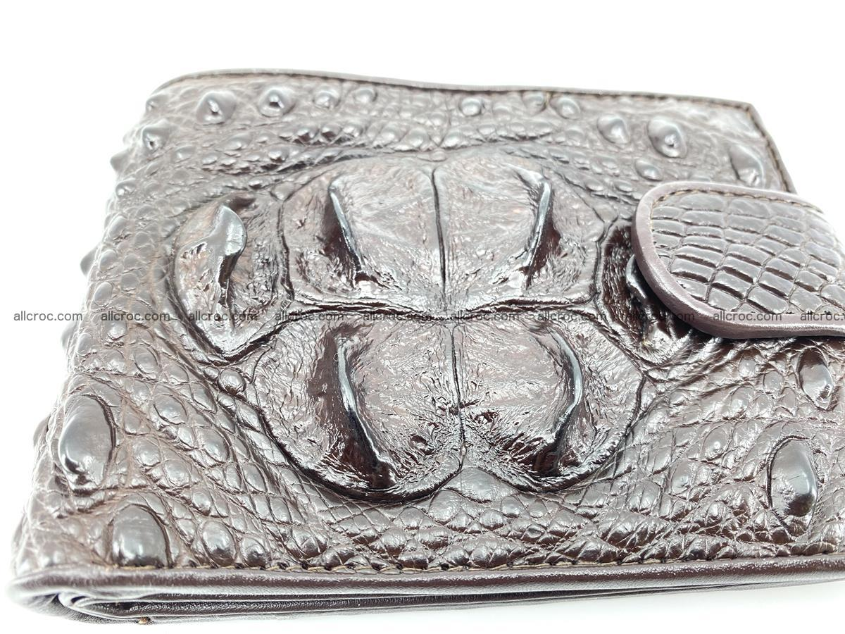 Crocodile skin wallet with pocket for coins and half belt 950 Foto 9