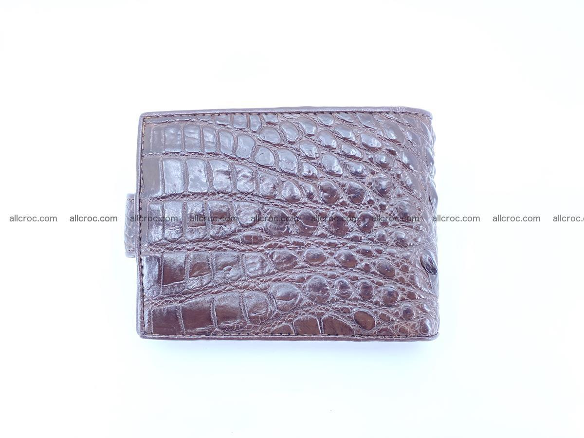 Crocodile skin wallet with pocket for coins and half belt 950 Foto 1