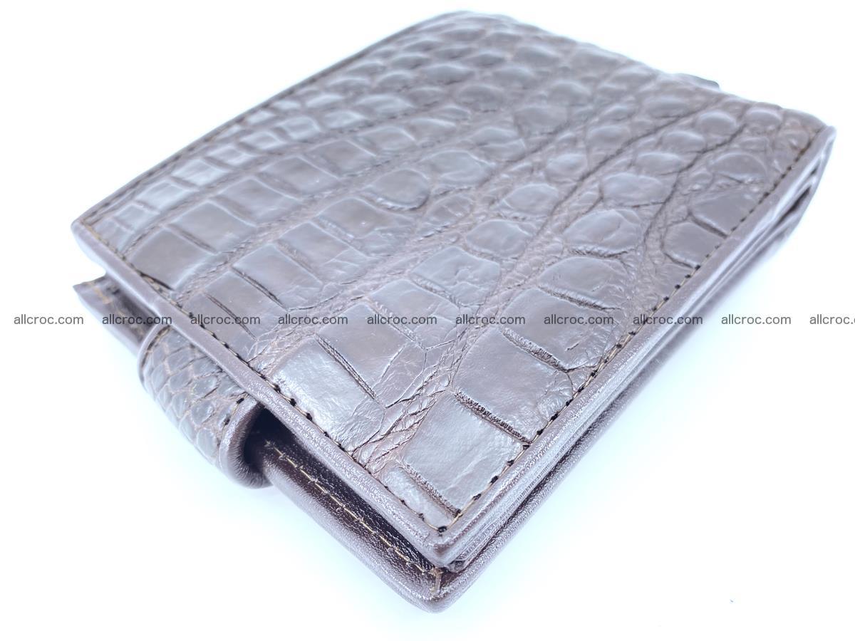 Crocodile skin wallet with pocket for coins and half belt 950 Foto 11