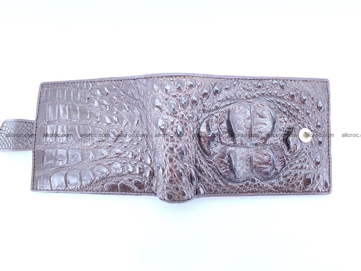 Crocodile skin wallet with pocket for coins and half belt 950 Foto 2