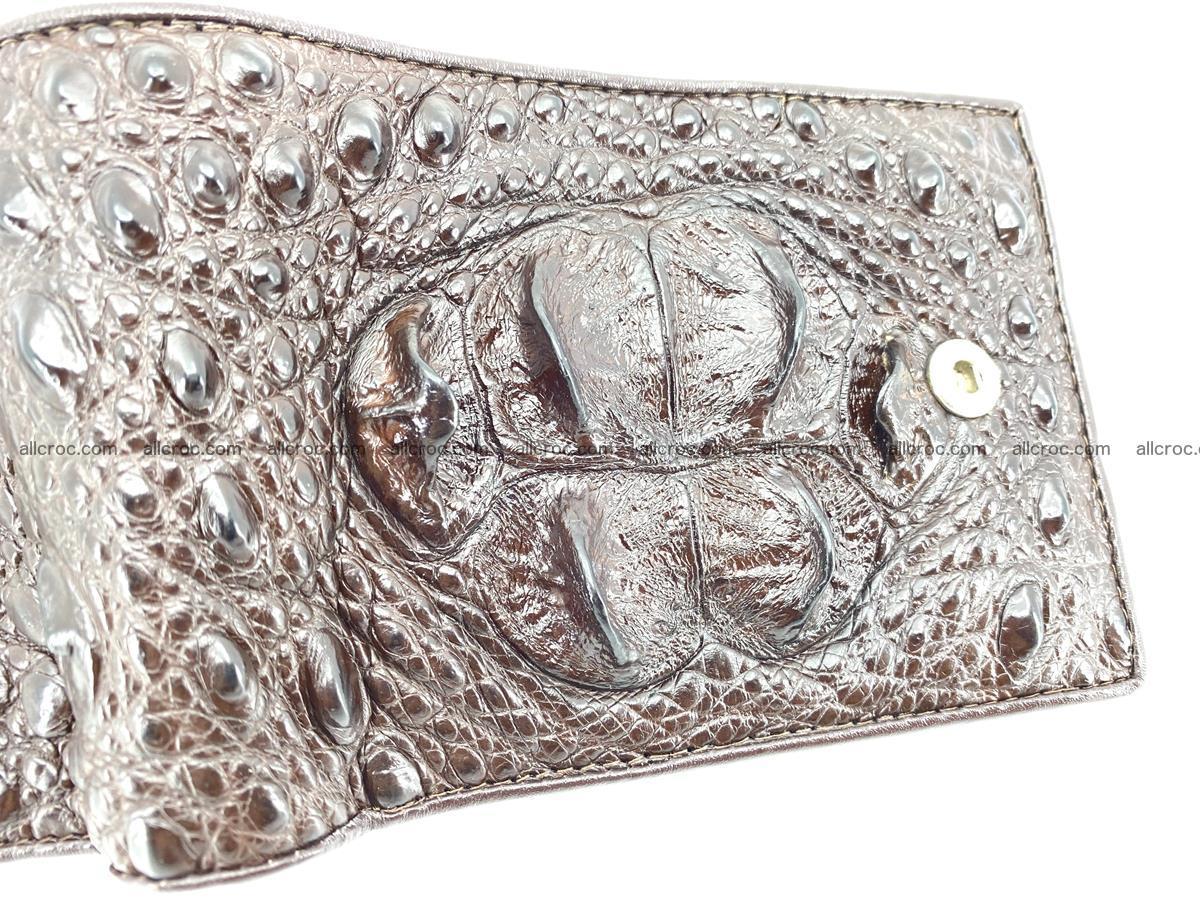 Crocodile skin wallet with pocket for coins and half belt 950 Foto 7