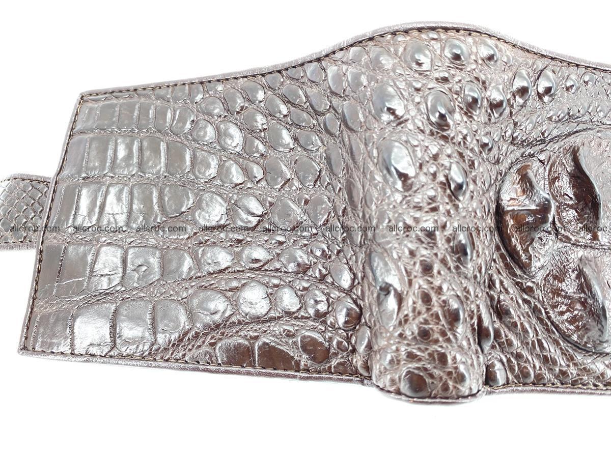 Crocodile skin wallet with pocket for coins and half belt 950 Foto 8