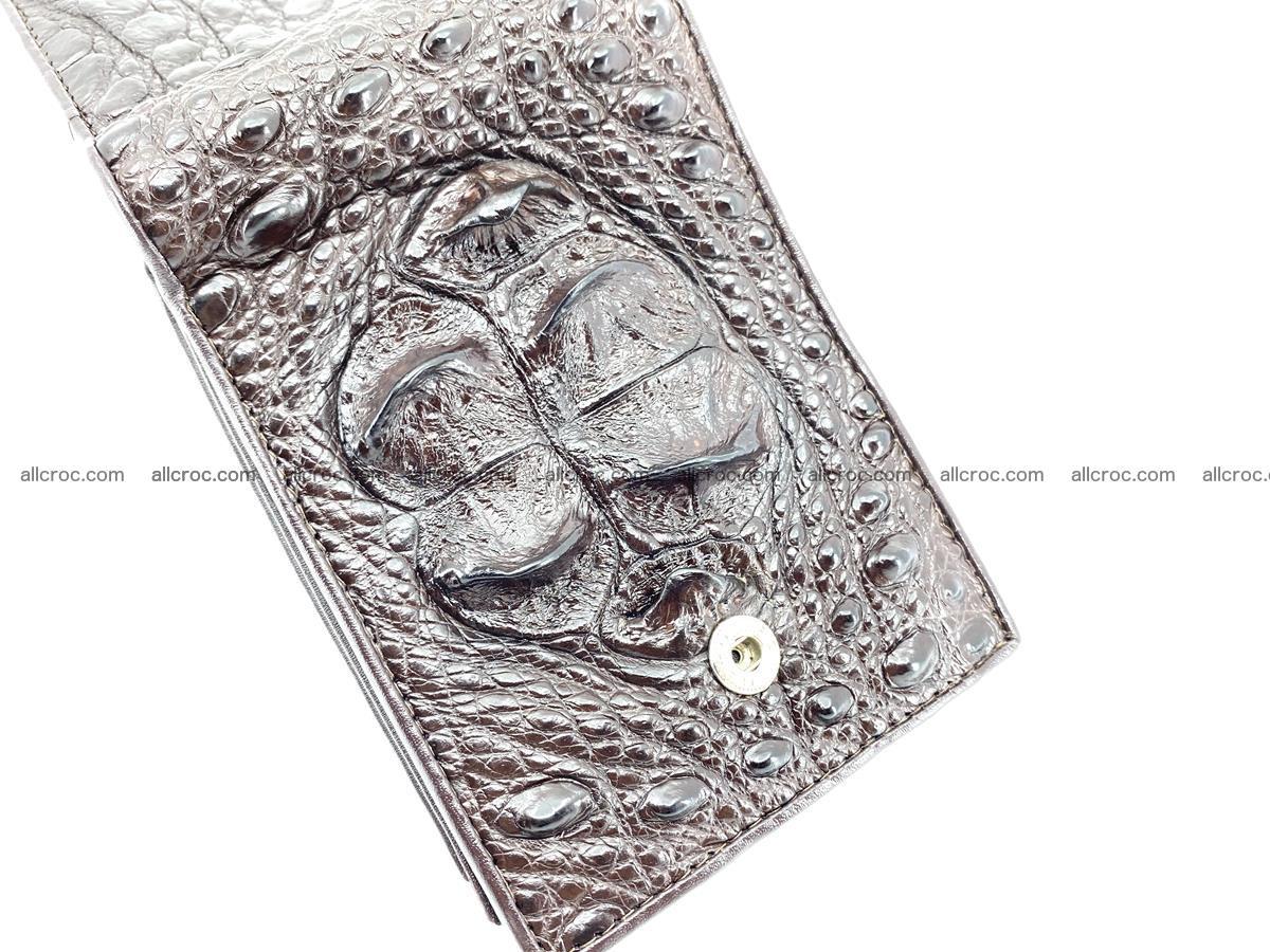Crocodile skin wallet with pocket for coins and half belt 950 Foto 10