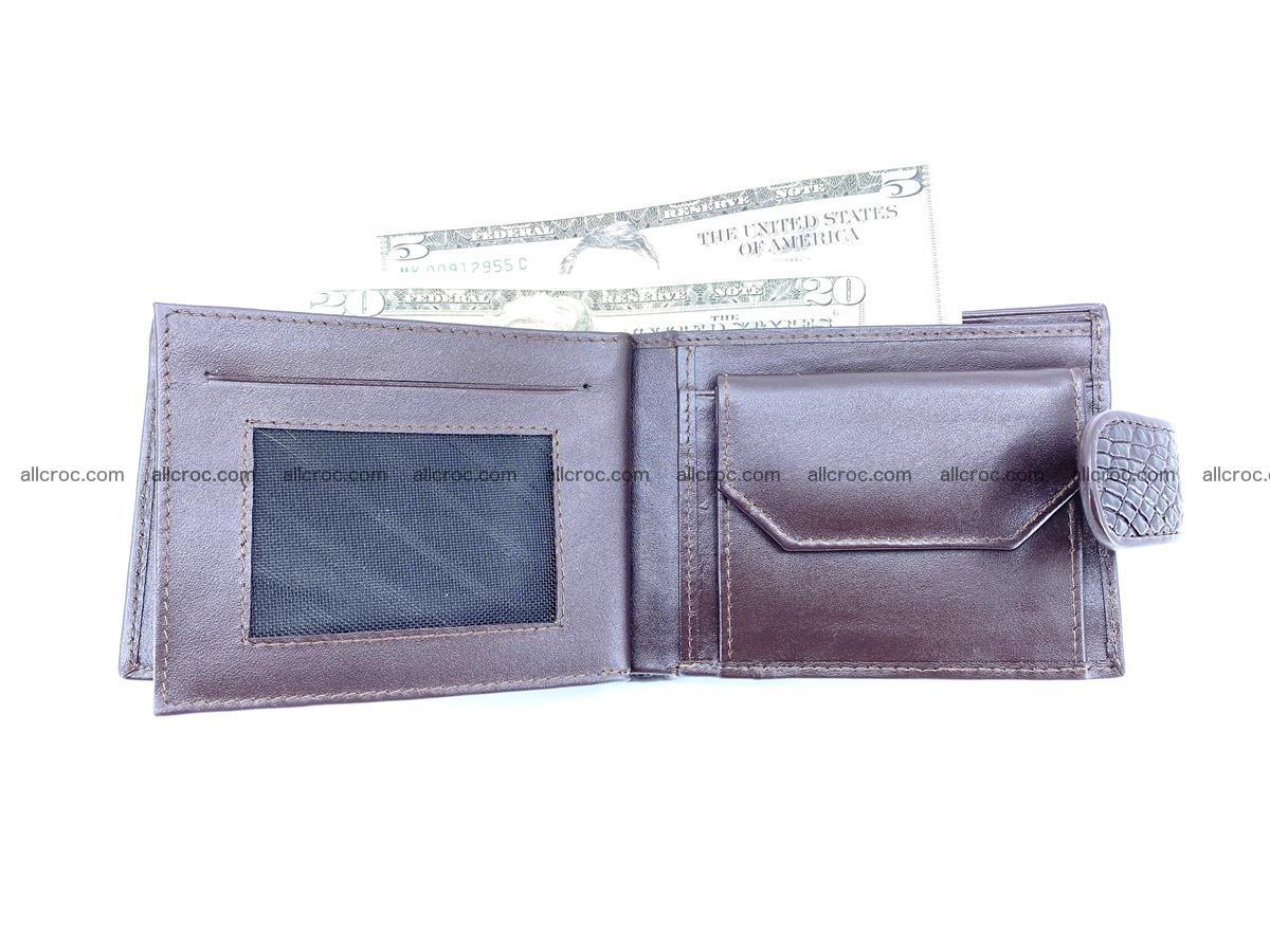 Crocodile skin wallet with pocket for coins and half belt 950 Foto 12