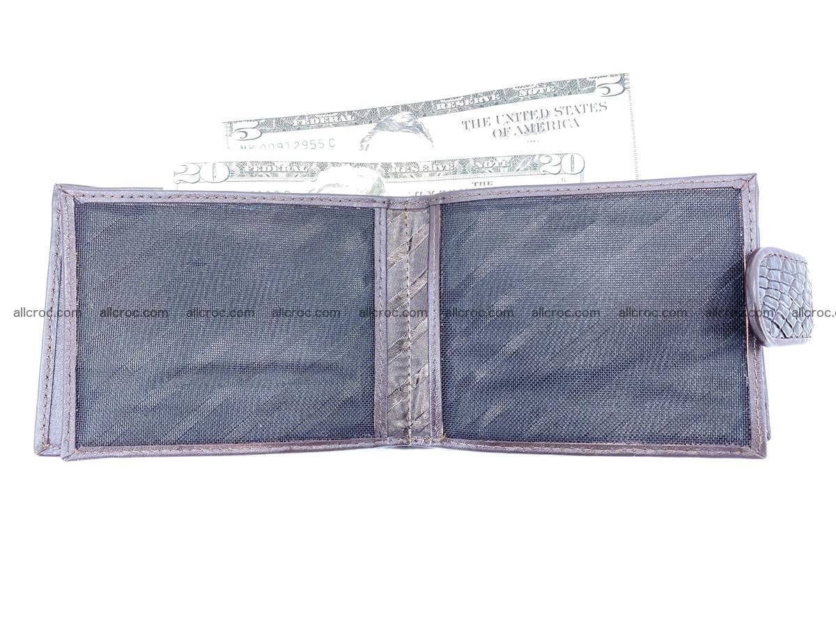 Crocodile skin wallet with pocket for coins and half belt 950 Foto 13