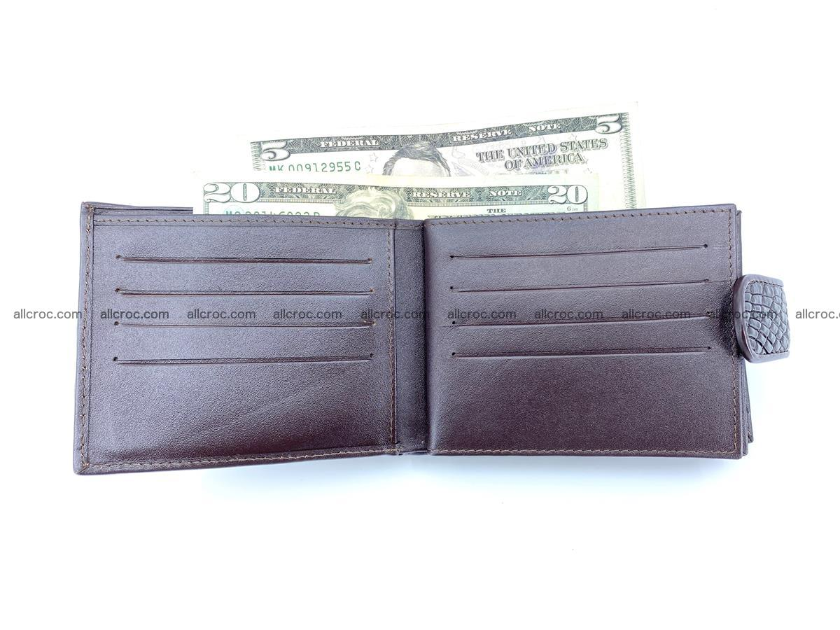 Crocodile skin wallet with pocket for coins and half belt 950 Foto 14